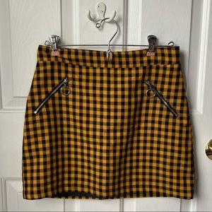 Forever 21 Checkered Skirt